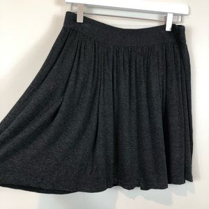 Eileen Fisher Charcoal Gray Pleated Skirt S